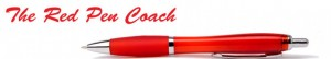 Red Pen Coach Header Image of a red pen.