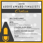 Audie award Finalist announcement for Erotica with Curing Doctor Vincent by Renea Mason