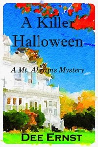 Cover for A Killer Halloween by Dee Ernst, a cozy mystery