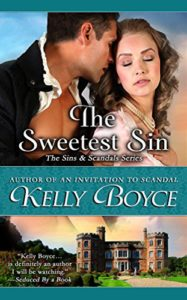 Cover of the Sweetest Sin by Kelly Boyce, a historical romance
